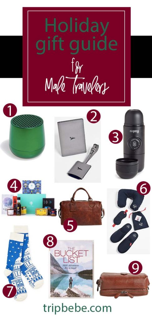 Holiday Gift Guide For Male Travelers Trip Bebe